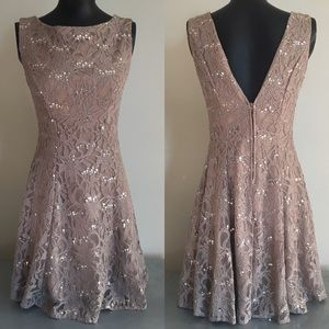 Taupe Cocktail Dress